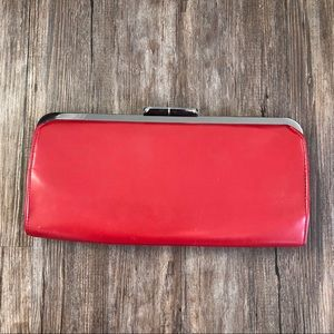 Vintage | Red Leather Clutch